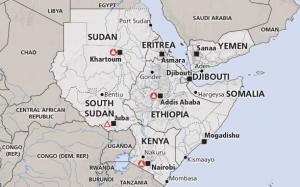 Horn of Africa Recent Map