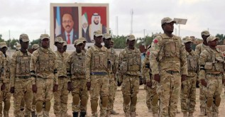 Somali military officers attend a training programme by the United Arab Emirates at their military base in Mogadishu